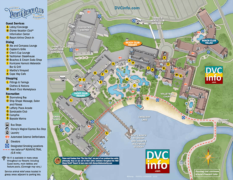 Disney's Beach Club Villas Resort Map