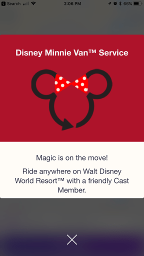 Minnie Van Welcome Screen