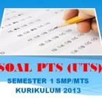 Soal PTS IPA Kelas 9 SMP MTs Semester 1 K13 Edisi Revisi 2018
