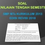 Soal PTS Penjaskes Kelas 7 SMP MTs Semester 1 K13 Edisi Revisi 2018