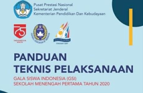 Petunjuk Teknis Juknis Gala Siswa Indonesia GSI SMP Tahun 2020