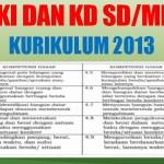 KI dan KD SD MI Kurikulum 2013 K13 Revisi Terbaru Tahun 2020 2021
