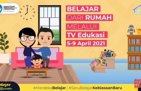 Panduan BDR di TVRI Minggu Ke-14 Tahun 2021 (5-9 April 2021)