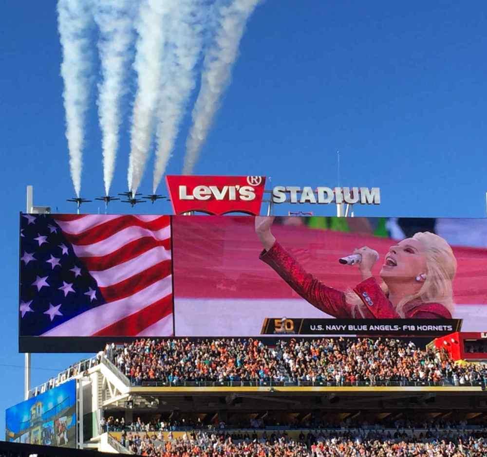 photo credit: Lady Gaga sings the National Anthem at Super Bowl 50 via photopin (license)