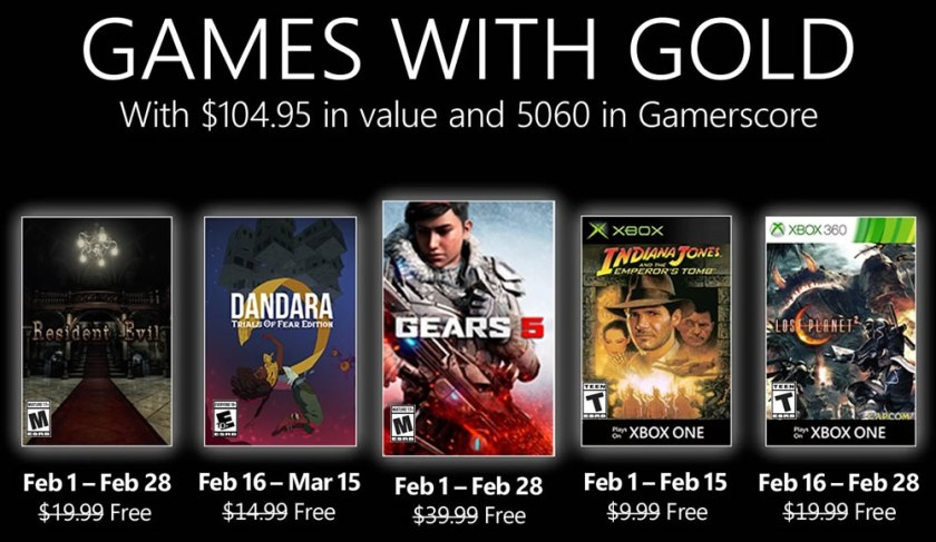 Xbox Games With Gold February 2021
