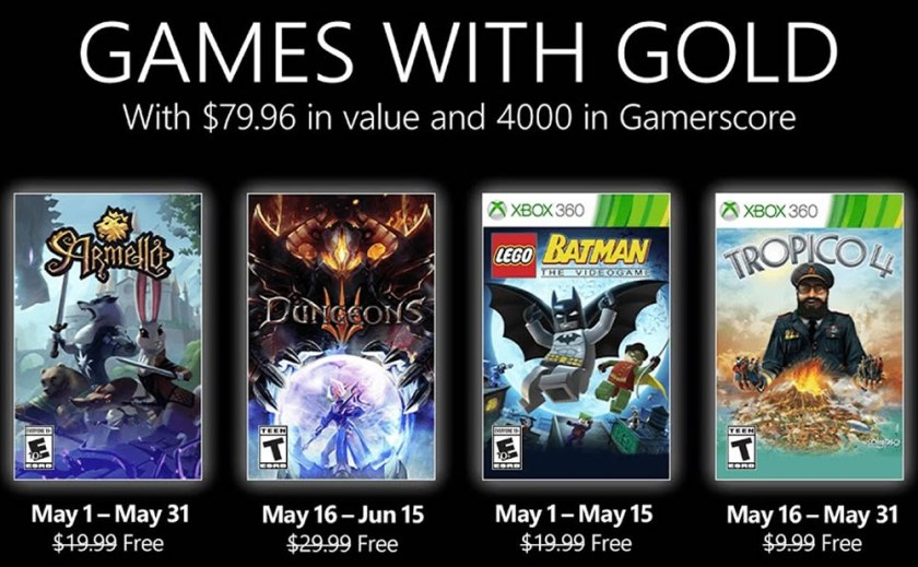 Xbox Games With Gold May 2021