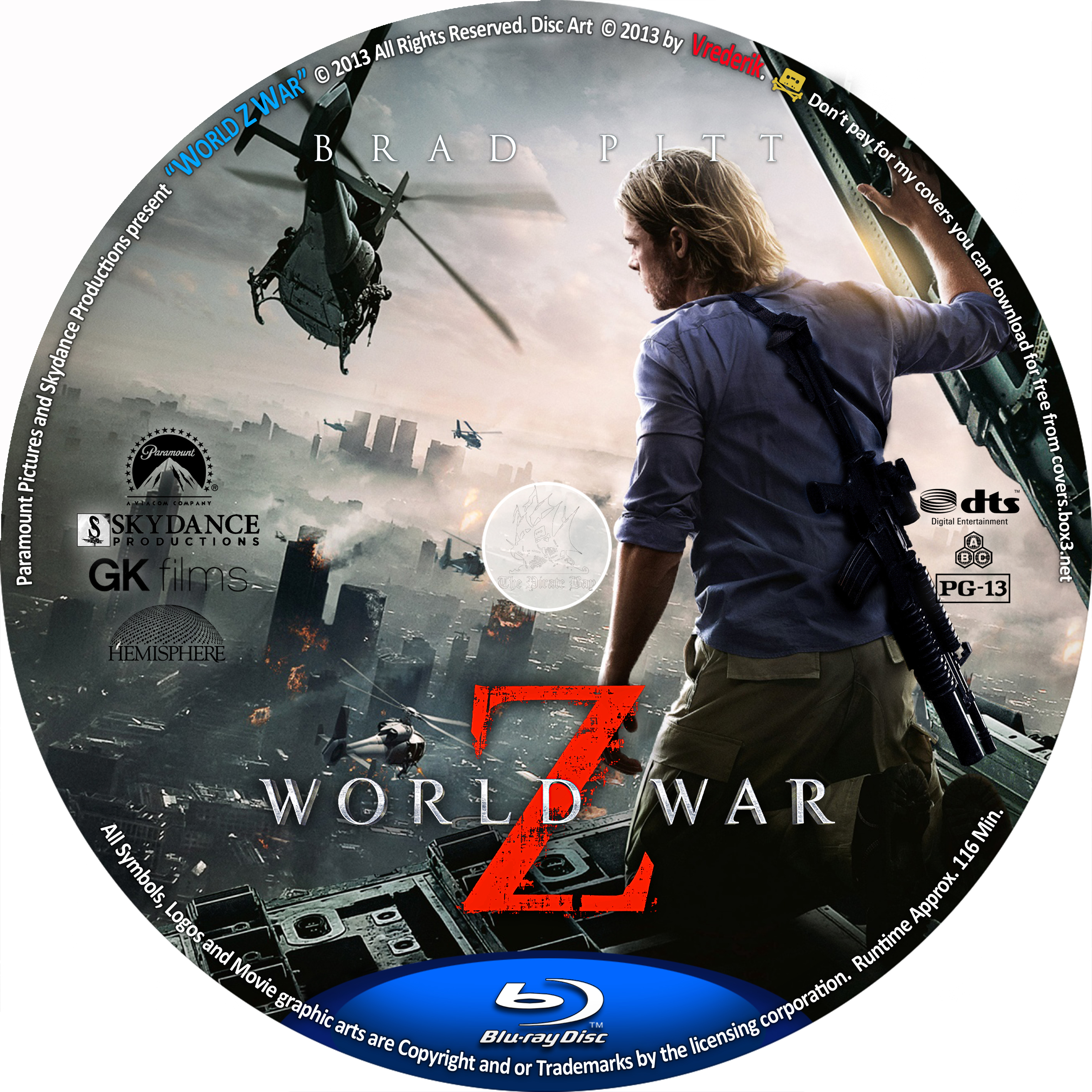 COVERSBOXSK World War Z 2013 High Quality DVD Blueray Movie