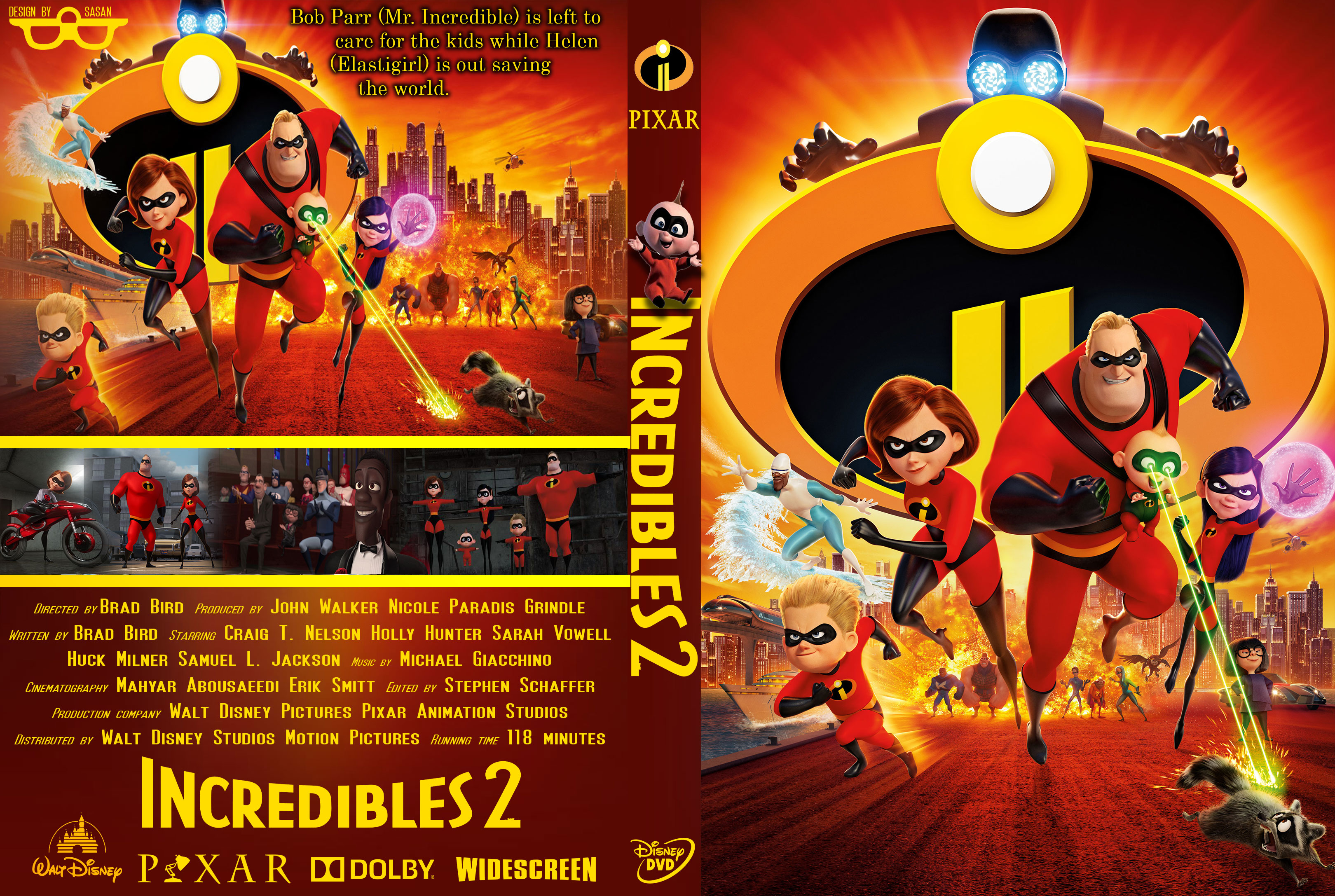 Incredibles 2 2018 R0 Custom DVD Cover Dvd Covers And