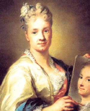 Autorretrato con el retrato de su hermana