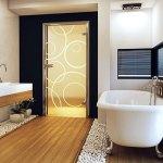 Стеклянная дверь для санузла
