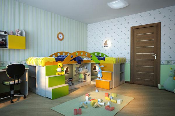 Двери в детскую комнату