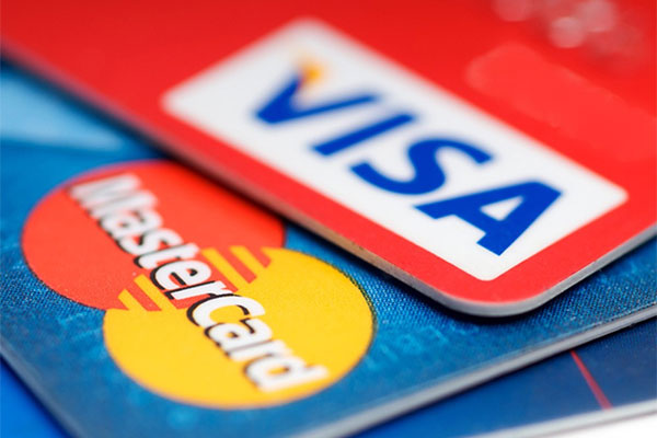 Оплата картами Visa и MasterCard