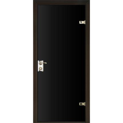 Межкомнатная зеркальная дверь (с черным стеклом)