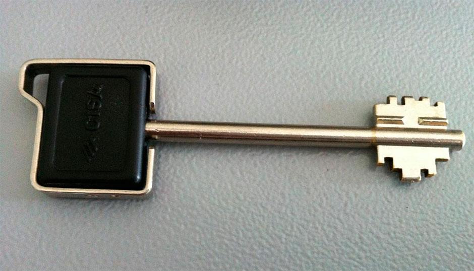 ключ для сувальдного замка