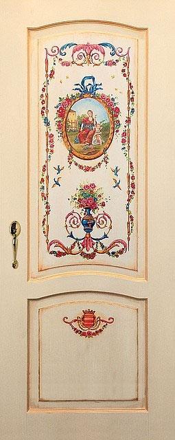 Художественная роспись на межкомнатной двери