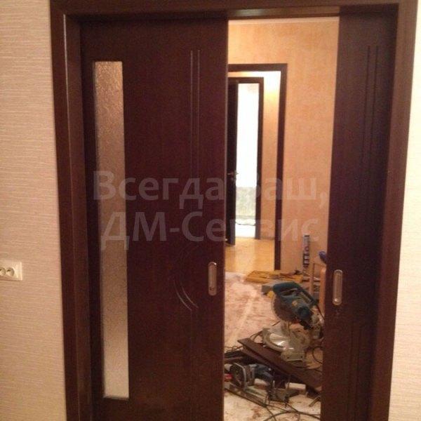 Двустворчатая дверь-пенал Молния