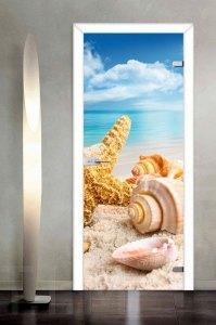 Морской стиль на дверном полотне