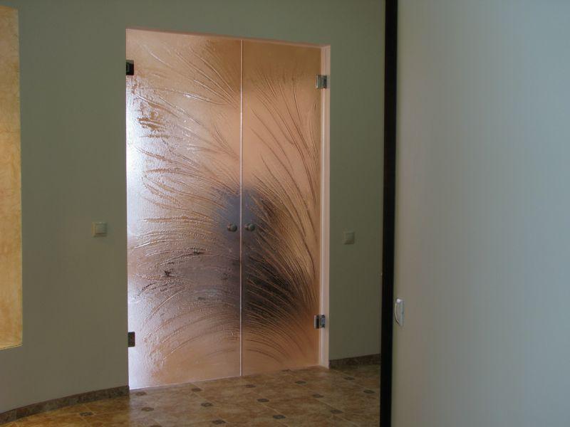стеклянные двери с фьюзингом фабрики квалитет про