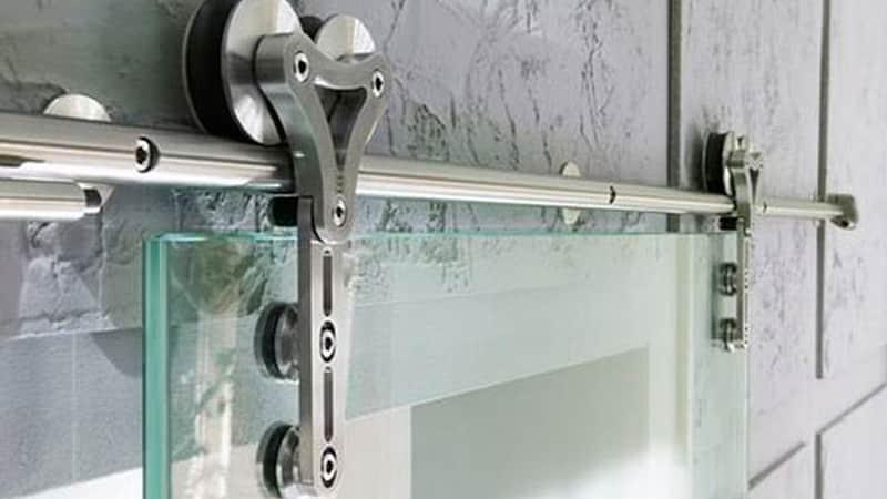 механизм раздвижной стеклянной двери