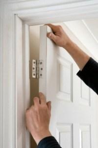 снятие полотна двери