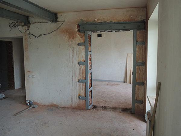 Как сделать проем входной двери фото 681