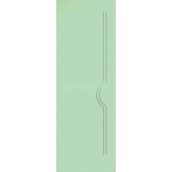 Строительная крашенная дверь Молния ПГ (глухая)