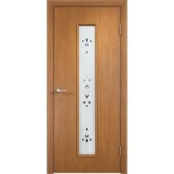 Межкомнатная дверь экошпон «C-21 Х Барокко» (со стеклом)