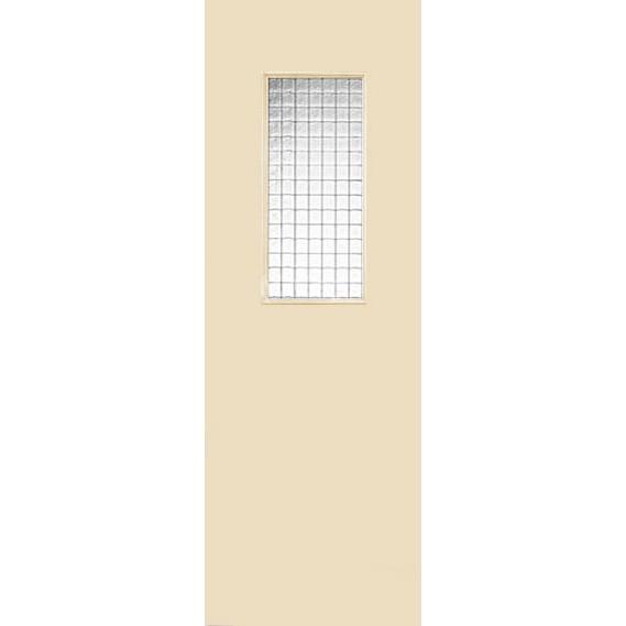Строительная крашенная дверь Марсель ПО (со стеклом)