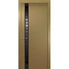 Межкомнатная шпонированная дверь «Concept L Черный» (со стеклом)