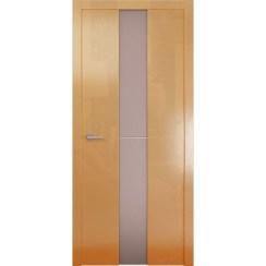 Межкомнатная глянцевая дверь «Avorio-4 Матовое» (со стеклом)