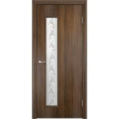 Межкомнатная дверь экошпон «C-22 Х Вьюн» (со стеклом)