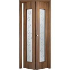 Складная дверь «книжка» C-17 Х (со стеклом)