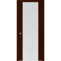 Межкомнатная шпонированная дверь «Capri-1 Белое» (со стеклом)