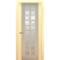 Межкомнатная шпонированная дверь «Concept P Белый» (со стеклом)