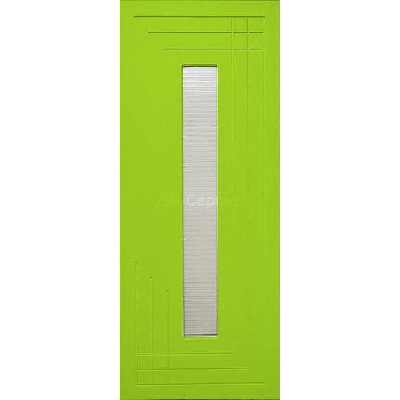Крашенная дверь премиум класса «Техно» (под остекление)