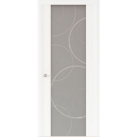 Межкомнатная шпонированная дверь «Capri-1 Матовое» (со стеклом)