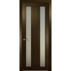 Межкомнатная шпонированная дверь «Ника-3 Белая» (со стеклом)