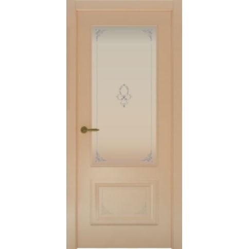 Межкомнатная дверь с эмалью «Flora 2 Белая» (со стеклом)