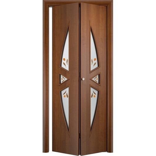 Складная дверь «книжка» C-1 Ф (со стеклом)