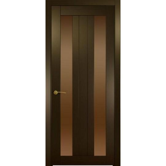 Межкомнатная шпонированная дверь «Ника-3 Бронза» (со стеклом)