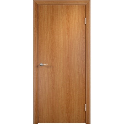 Строительная ламинированная дверь «ГЛП» (миланский орех, глухая)
