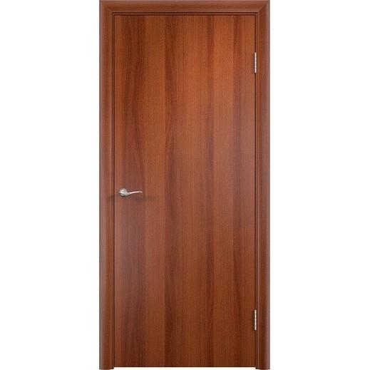Строительная ламинированная дверь «ГЛП» (итальянский орех, глухая)