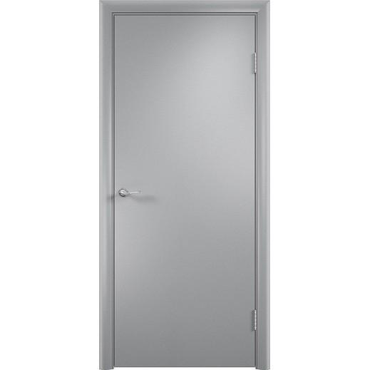 Строительная ламинированная дверь «ГЛП» (серая, глухая)