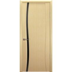 Межкомнатная шпонированная дверь «Буревестник Черный» (со стеклом)