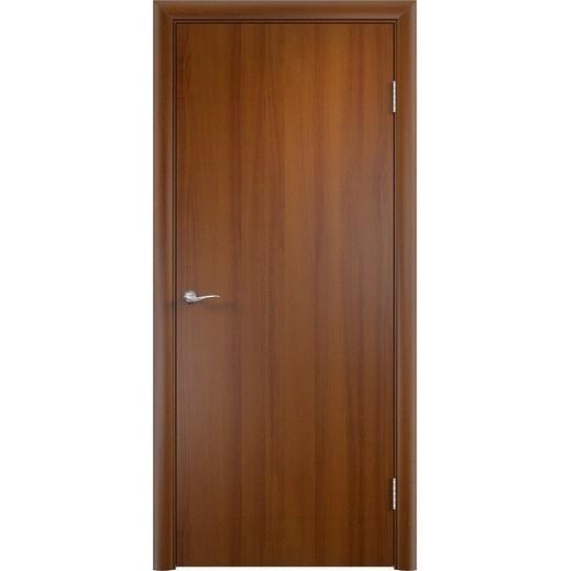 Строительная ламинированная дверь «ГЛП» (лесной орех, глухая)