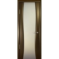 Межкомнатная шпонированная дверь «Буревестник-2 Белый» (со стеклом)
