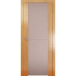 Межкомнатная глянцевая дверь «Avorio-1 Матовое» (со стеклом)
