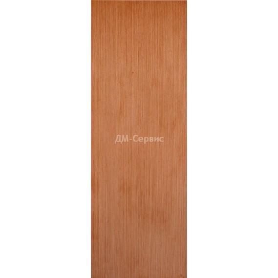 Строительная шпонированная дверь «ГШП» (светлый орех, глухая)
