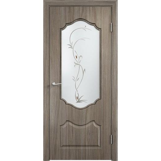 Межкомнатная дверь скин экошпон «Венера ДО ХФ Светлая» (со стеклом)
