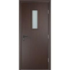 Строительная противопожарная дверь «ДПО» (венге, глухая)
